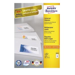 etykiety produkcji Avery Zweckform